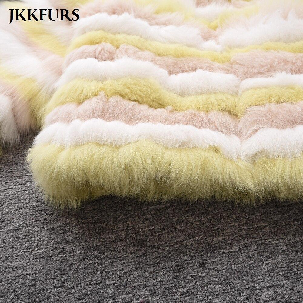 Veste color Réel Manteau Haute S7492 Color De Fourrure B Qualité Chaud Hiver Naturelle Couleur Femmes A Renard Véritable Luxe Rayé Mixte Épais RwwCqZf6