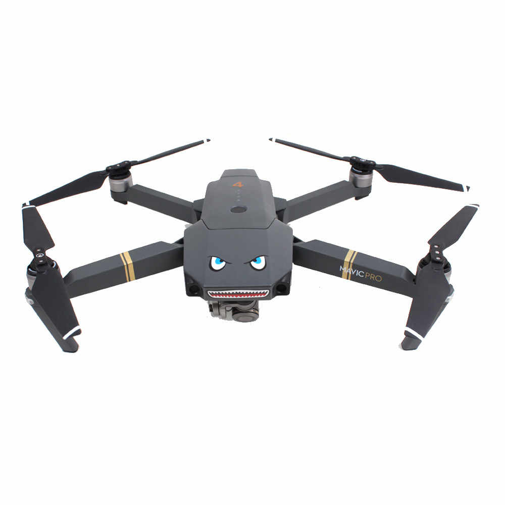 2 Pcs Shark Decoration Waterproof Decal Skin Sticker For Dji Mavic Pro Rc Drone 6j7 Drop Shipping Camera Drone Decals Aliexpress