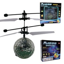 RC Flying Ball Luminous Kid's Flight Balls Electronic Infrared Induction Aircraft Remote Control Toys LED Lights Mini Helicopter 2019 new electric flying ball luminous toys led light mini helicopter infrared induction aircraft flashing ball for kids lantern