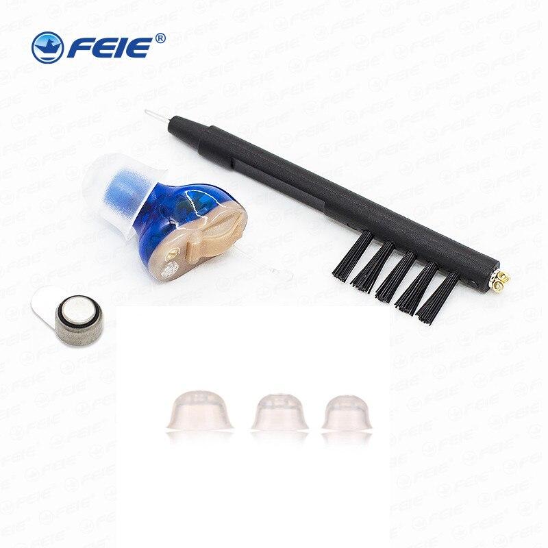 FEIE мини Портативный Audiophone слуховой аппарат гарнитуры S 15A программируемый Аудиометрия медицинского инструмента ухо уход инструменты челно