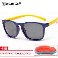 2018 New Polarized Sunglasses Kids Flexible Eyewear Square Frame Baby UV400 Sun Glasses Oculos De Sol Infantil Free Gift