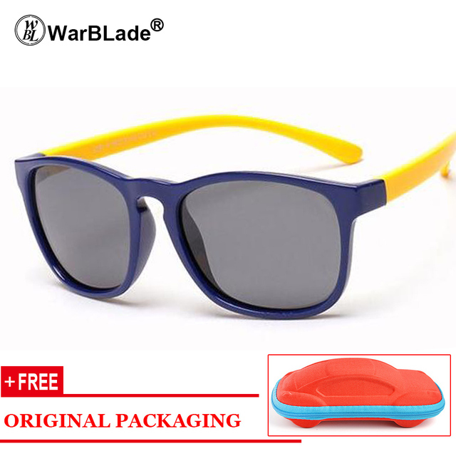 2018 New Polarized Sunglasses Kids Flexible Eyewear Square Frame Baby UV400 Sun Glasses Oculos De Sol Infantil Free Gift