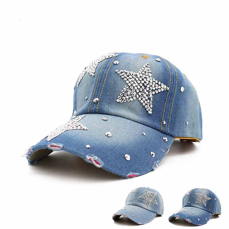 Diamond pentagram cowboy knit hats Leisure adjustable Cowboy Hats Outdoor sports sun protection travel cap Free shipping sale