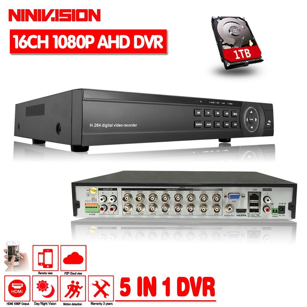 CCTV DVR 16CH Digital Video Recorder AHD 16 Channel AHD-H 1080P Hybrid input Home Security 1080P HDMI Output Onvif P2P 3G WIFI цены