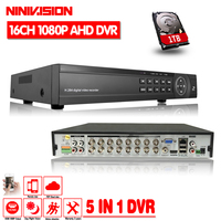 CCTV DVR 16CH Digital Video Recorder AHD 16 Channel AHD H 1080P Hybrid Input Home Security