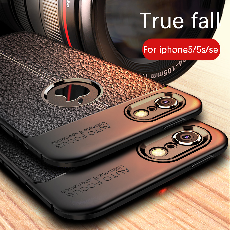 VOVTA Fitted Cases For Iphone 5s 5 Se Case Silicone Black Dirt-resistant Cover For Iphone