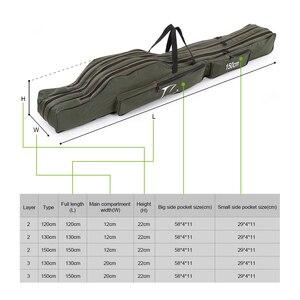 Image 4 - FDDL 120CM 130CM 150CM 휴대용 접이식 낚시대 가방 다목적 캐리어 캔버스 낚시대 유혹 도구 보관 가방 케이스