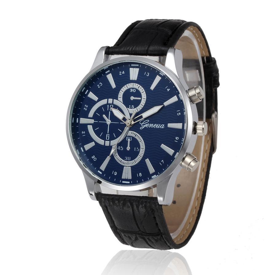 HF 2018  Retro Design Leather Band Analog Alloy Quartz Wrist Watch  Relojes de Hombre FE16Levert Dropship Box  Z518 5Down sunward 2017 hot high quality relogio masculino retro design leather band analog alloy quartz wrist watch