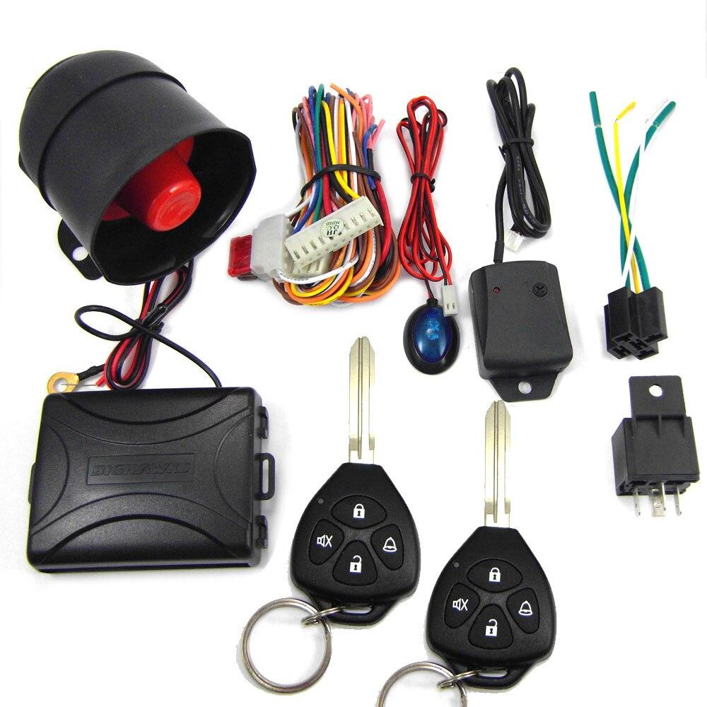 802-8123 Universel de voiture système d'alarme avec sirène pour 12 V DC Véhicule qui a central système de verrouillage de porte livraison directe