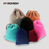 HARDIRON 50pcs Velvet Jewelry Bags Multi Color Beam Pocket Drawstring Sack Small Electronic Products Pouch