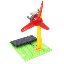 Детские игрушки для мальчиков diy автомобиль для детей солнечной энергии вентилятор модель DIY деревянный солнечный вентилятор модель сборки детские развивающие игрушки