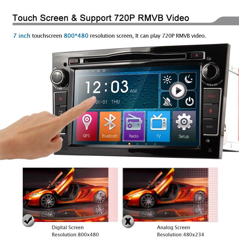 Eunavi 2 Din Auto DVD Player in dash autoradio stereo für Vauxhall Opel Astra H G J Vectra Antara Zafira corsa mit GPS 3G Wifi