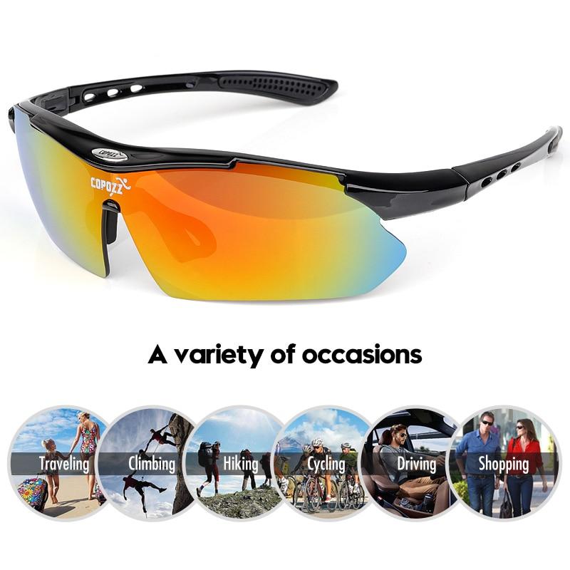 COPOZZ Cycling Glasses 2018 men women Mountain Bike Bicycle Cycling Sunglasses MTB Glasses Motorcycle Sports Eyewear Goggles in Cycling Eyewear from Sports Entertainment