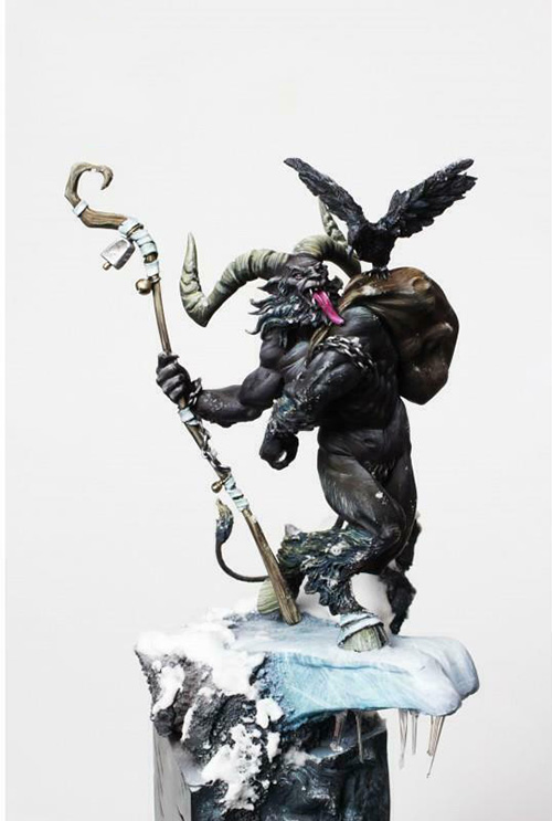 1/24 75MM Krampus Zombie 75MM (WITHOUT BASE )   Resin figure Model kits Miniature gk Unassembly Unpainted
