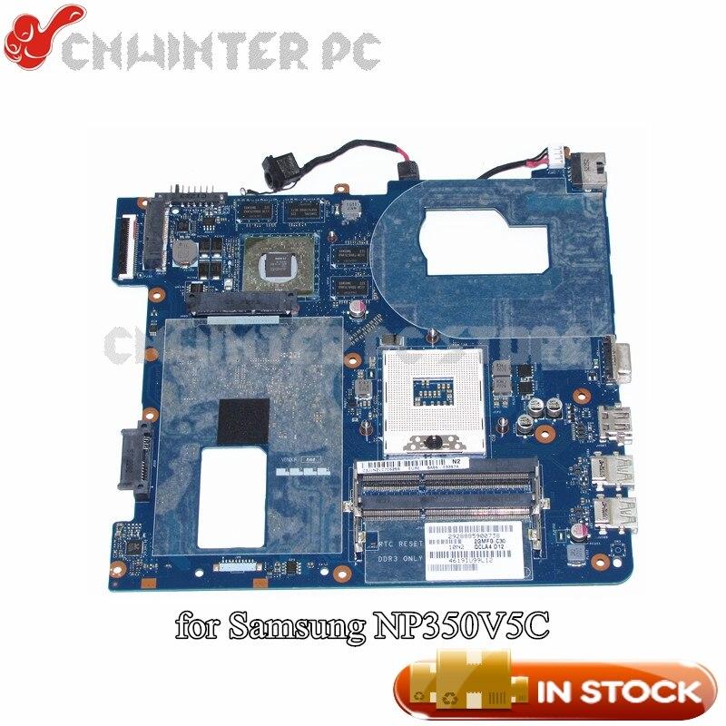NOKOTION For Samsung NP350 NP350V5C 350V5X Laptop Motherboard QCLA4 LA-8861P HM76 HD7670M DDR3 BA59-03397A цена