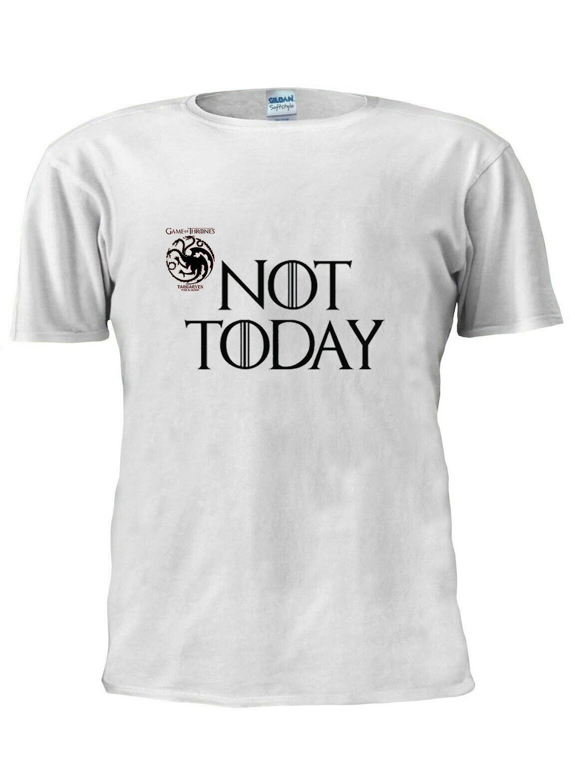 T-Shirt Game OF Thrones Arya Stark pas aujourd'hui hommes femmes unisexe T-Shirt M209 100% coton T-Shirt hauts en gros T-Shirt