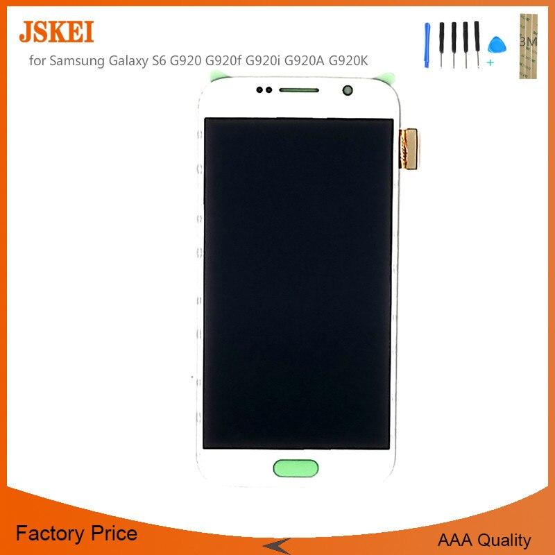 Тестирование ЖК дисплей для Samsung Galaxy S6 G920 G920f G920i G920A G920K ЖК дисплей Экран сборки Super AMOLED S6 ЖК дисплей 5 шт./лот