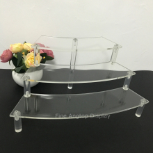 Acrylic Jewelry Display Holder Rack Clear 3 Tier Organizer Stands for Earring Bracelet Necklace