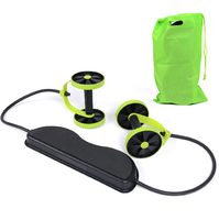 AB Roller Abdominal Exerciser Fitness Equipment Pull Rope Muscle Home Trainer Puller Roller Slimming Muscle Trainer