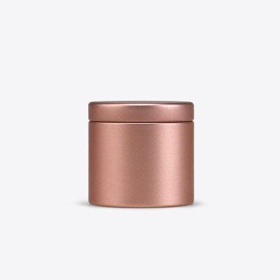 Dia47X45mm Круглый Мини прекрасный чай жестяная коробка Горячая герметичный caddy офисный металлический ящик для хранения коробка 100 шт./лот - Цвет: Gold