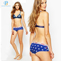 PINK HERO New Star Printed Cotton In The Back Of Waist Woman Triangle Underwear Factory Striped Star wholesale  Panties Lingerie