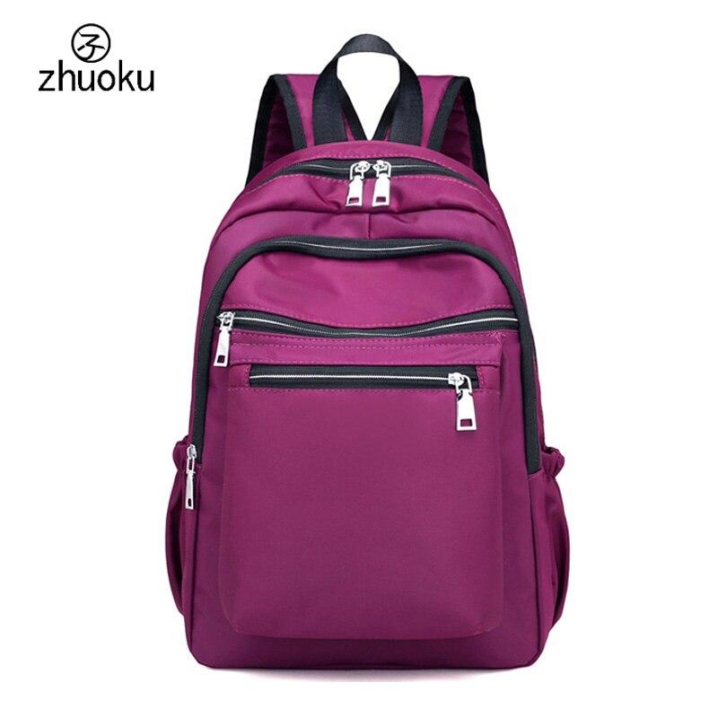 women multi layer zip pocket anti theft backpack female travel backpack waterproof  school bags