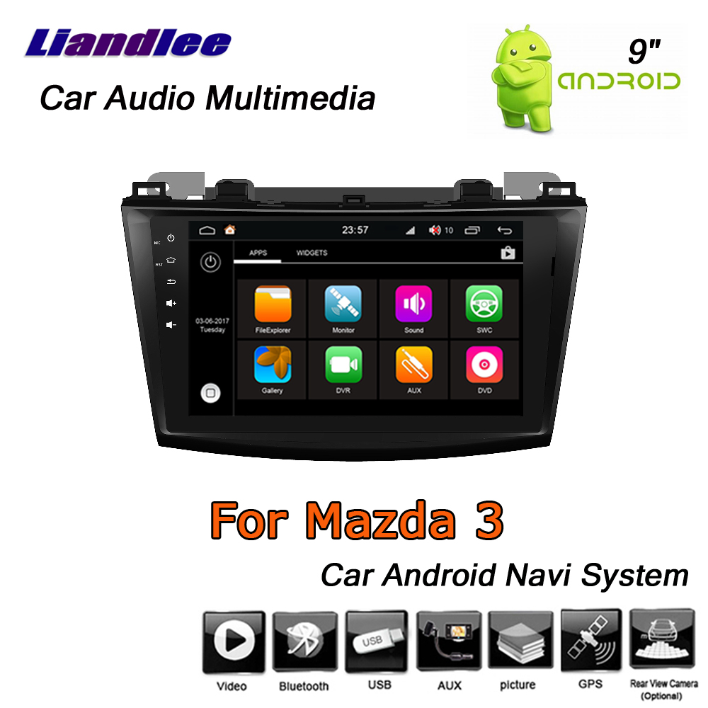 Liandlee Android 8 UP Für <font><b>Mazda</b></font> 3 2003 ~ 2009 Stereo Auto Radio Carplay Kamera BT Wifi AUX GPS Karte Navi navigation System Keine CD DVD image