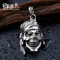 Beier 316L Stainless Steel pendant necklace punk new skull pendant Fashion  jewelry  BP8-196