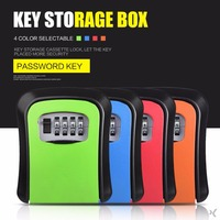 Giantree 4 Digit Password Key Lock Case Safe Box Wall Mounted Lock Box Storage Lock Digit