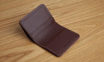 LANSPACE designer handgjord läder plånbok herr plånbok liten - Plånböcker - Foto 3