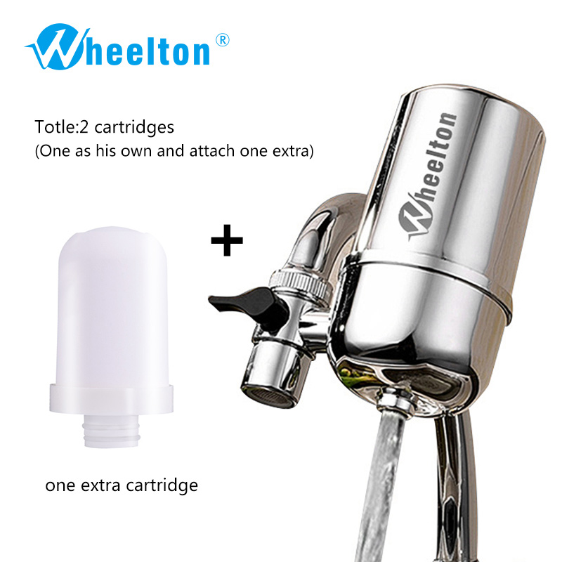 Wheelton Kitchen Water Filter Faucet(F-102-1E) Water Ionier Remove Water Contaminants Alkaline Water Ceramic Cartridge Purifier 2016 osmosis portable ceramic filter faucet water purifier adapted to the standard easy installation removes 99% contaminants