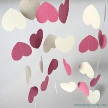 4 метра сердце горошек бумажный флаг вечерние гирлянда с колокольчиками украшения баннер овсянка для дня рождения свадьбы события