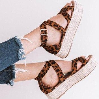 Women Sandals 2019 New Women Summer Sandals Plus Size 43 Leather Flat Sandals Female Flip Flop Casual Beach Shoes Ladies