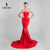 Missord 2016 Sexy Wrapped Chest Asymmetric Maxi Dress Party Dress FT1683 1