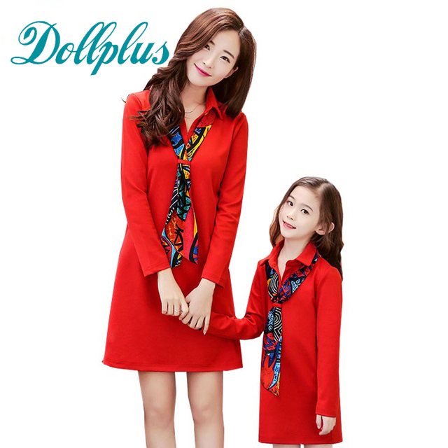 2017 mother daughter dresse tie free summer fashion mom and daughter dress mini mother and daughter matching outfits