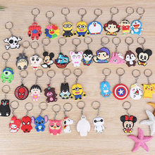Cute Cartoon Keychain Key Ring Gift For Women Girls Bag Pendant PVC Figure Charms Key Chains Jewelry porte clef(China)