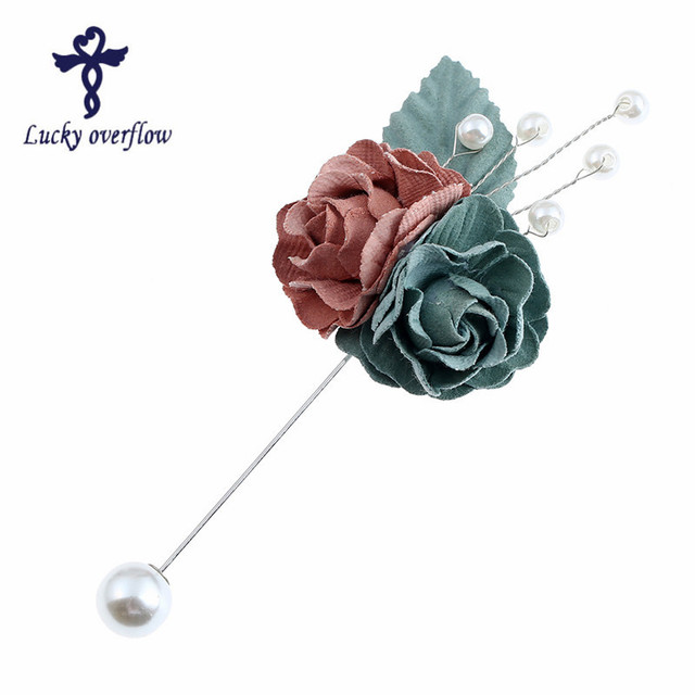 2018 Fashion Lapel Pin 4 Color Women & Men Brooches of Fabric Flowers Lapel Pin