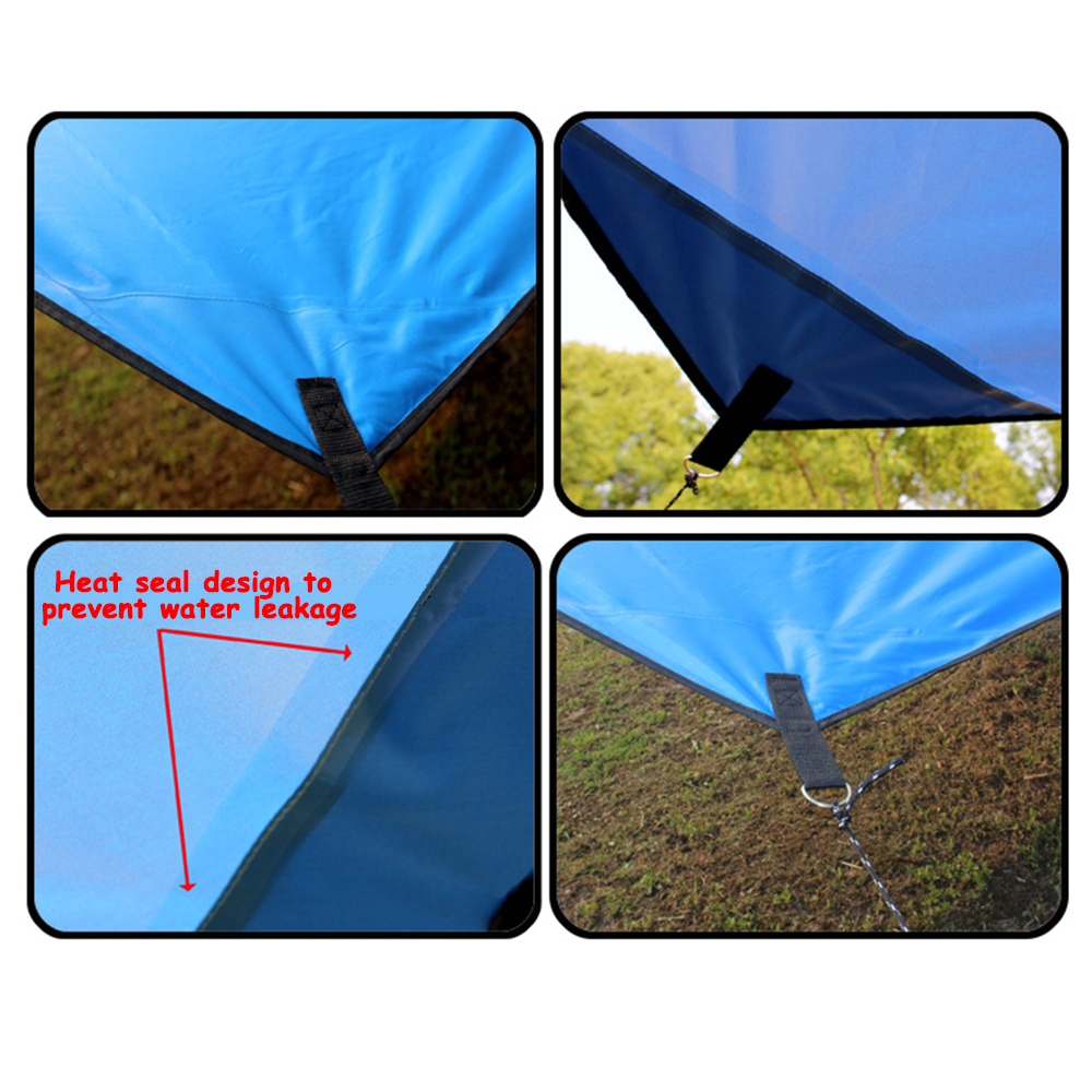 Image 4 - Outdoor Oxford Cloth Waterproof  Pergola Silver Coating Awning Sunscreen Sunshade Beach Tent Sun Shelter Camping Trap-in Sun Shelter from Sports & Entertainment