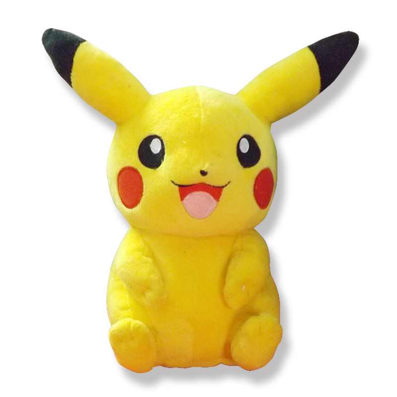 Hot Sale Cute Pikachu Plush Toys Baby Hot Anime Plush Toys Children's Gift Toy Kids Cartoon Character Peluche Pikachu Plush Doll 1pc hot sell interesting sing and dancing frantically laying hens under electric plush toy cute doll for kids great gift
