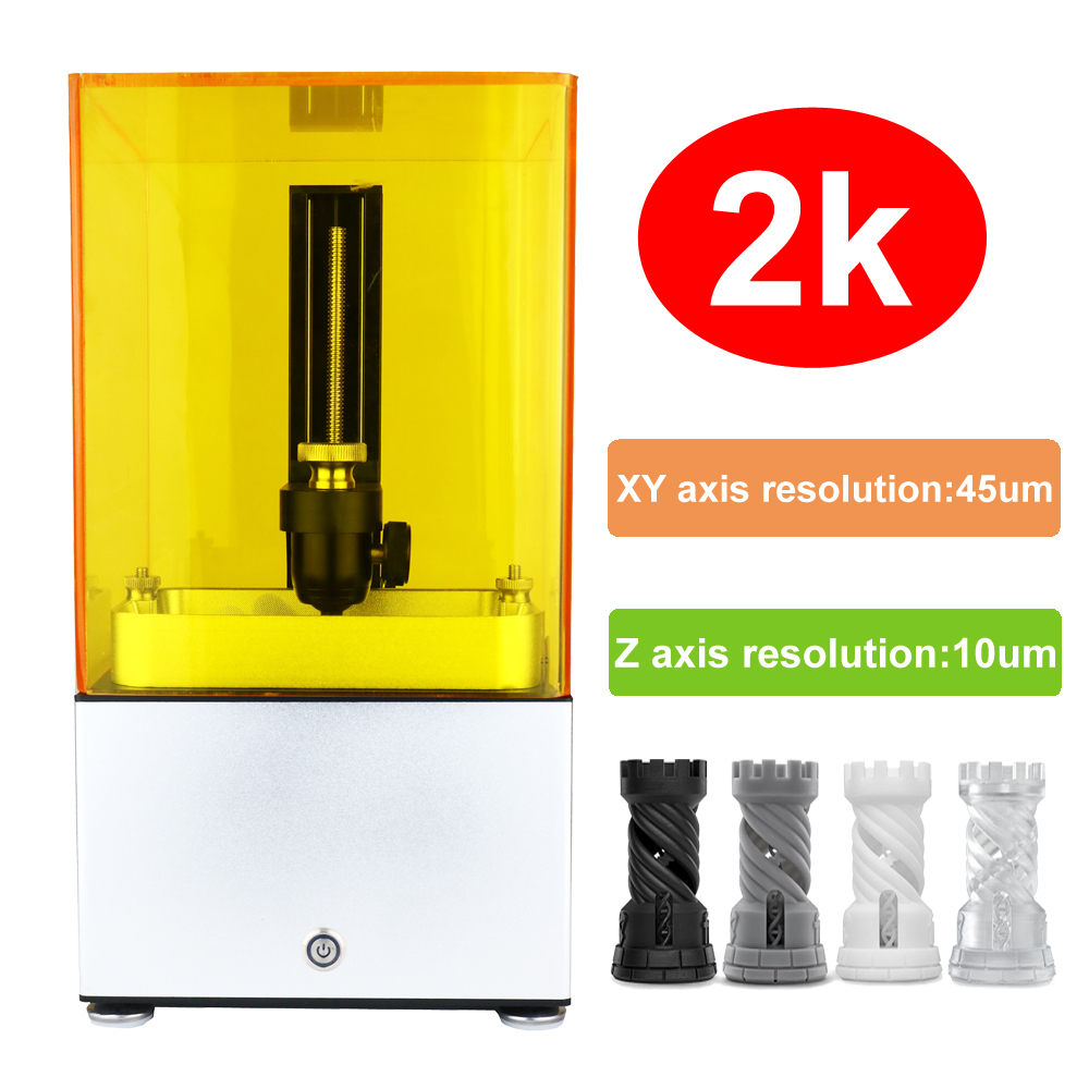 все цены на 2018 new 3d printer 2K Jewelry No.1 SLA/DLP/LCD 3d printer with high resolution Suitable for jewelry dentistry christmas онлайн