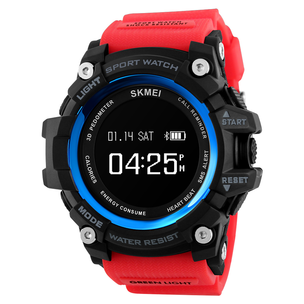 SKMEI Men Smart Watch Bluetooth Smart Fashion Outdoor Sports Watches Heart Rate Pedometer Monitor Fitness Digital Wristwatches  pedometer heart rate monitor calories counter led digital sports watch skmei fitness for men women outdoor military wristwatches