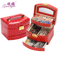 Multi Mina Leather Jewelry Box Leather Jewelry Holder Wood Storage Box Watch Box PU 025 Free