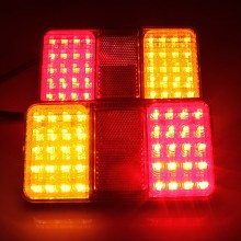Hot sale! 2x 12V TRUCK 40LEDS REAR LIGHT STOP INDICATOR TAIL LAMP TAILLIGHT E11 APPROVED