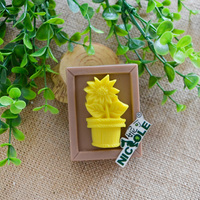 R0021 Flower Pot Food Grade Silicone Mould Soap Candle Mold