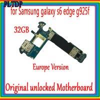 Original unlocked motherboard for Samsung Galaxy S6 edge G925F mainboard 32GB Full Function Good Tested