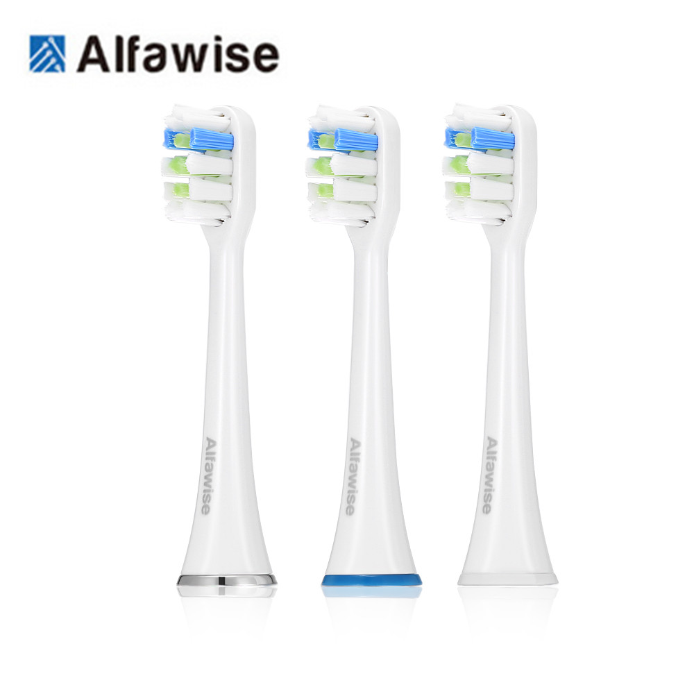 3Pcs Alfawise Stylish Replacement Brush Head for RST2056 Sonic Electric Toothbrush Heads Alfawise Toothbrush Brush Heads Home3Pcs Alfawise Stylish Replacement Brush Head for RST2056 Sonic Electric Toothbrush Heads Alfawise Toothbrush Brush Heads Home