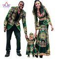 Women African Clothing Bazin Riche Dashiki for kids Men Blazers Long Sleeve Maxi Dress Plus Size African Clothing BRW  WYQ15