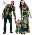 Women African Clothing Bazin Riche Dashiki for kids Men Blazers Long Sleeve Maxi Dress Plus Size African Clothing BRW  WYQ15