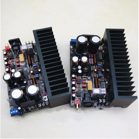 LM3886-1.0 Full Balance With Preamplifier Board With Protection High Power 120W