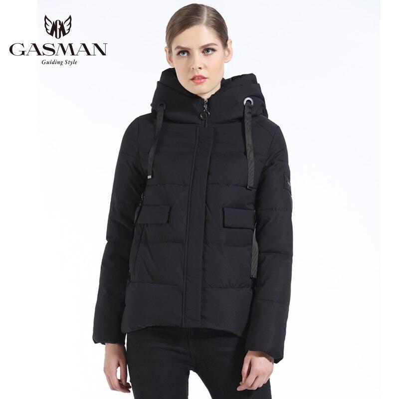 GASMAN 2019 Women Winter Coat Short Fashion Slim Down Jacket Brand Female Windproof Overcoat Casual Hooded
